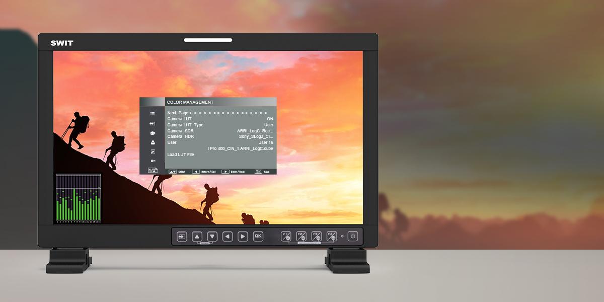 monitor portatil producción